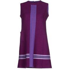 Alpi Short Dress ($345) ❤ liked on Polyvore featuring dresses, mauve, trapeze dress, zip dress, tent dress, sleeveless dress and zipper dress
