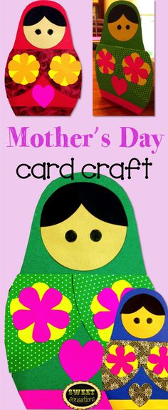 Mother's Day is May 10th!  This is a fun Russian Nesting Doll card to show mom how much she is appreciated and loved!