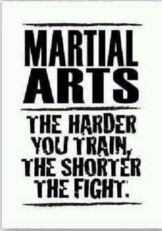 Entre más duro sea el entenamiento, más corta será la batalla.