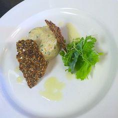 Smoked haddock pate fennel tuile & preserved lemon dressing  #iphoneography #food #foodporn #chefstalk #chefsofinstagram #theartofplating #foodart #gastroart by hardboiledchef