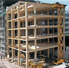 Technology: Seven Storey #Wood #OfficeBuilding in Zurich   DETAIL inspiration #ShigeruBan