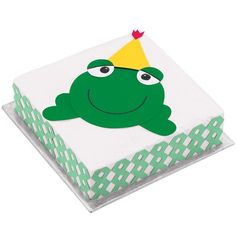 Hoppy Birthday Frog Cake - With Sugar Sheets! and tools, you'll be able to hop right on making this frog-shaped cake. It's perfect for any special birthday boy or girl.