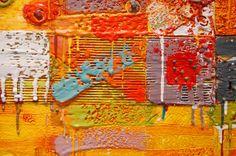 """Carey Corea, Detail of """"8Across"""", Encaustic"""