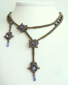 Mokuren Necklace and Earrings  Pattern Only by SamohtaC on Etsy, $15.00