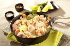 Blanquette express de poissons et crevettes