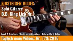 ✪ EINSTEIGER BLUES ►B.B King Lick Nr.1