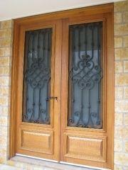 Designer Wrought Iron & Timber Doors - dwi41