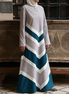 SHUKR USA | Chevron Stripe Cotton Dress