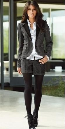 My type of fall outfit ----- shorts & tights