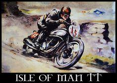 Isle of Man TT - vintage posters.