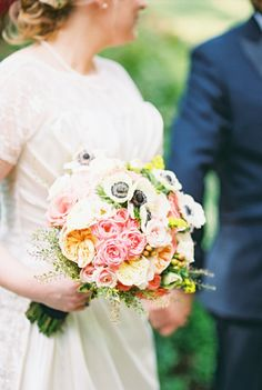 Stunning combo: http://www.stylemepretty.com/2015/03/27/romantic-st-louis-wedding-with-pops-of-pink/ | Photography: Lisa Dolan - http://lisadolanphotography.com/