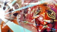 Super Saiyan Goku VS Lina by andrewk.deviantart.com on @DeviantArt