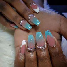 Custom nails design #allpowder design @tonysnail