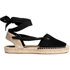 Espadrilles with lacing ($17) ❤ liked on Polyvore featuring shoes, sandals, tie shoes, espadrille shoes, laced up shoes, lace up espadrille sandals and tie sandals