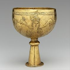 Gold Goblet with Personifications of Cyprus, Rome, Constantinople, and Alexandria, 700s. Avar or Byzantine. The Metropolitan Museum of Art, New York.  Gift of J. Pierpont Morgan, 1917 (17.190.1710).