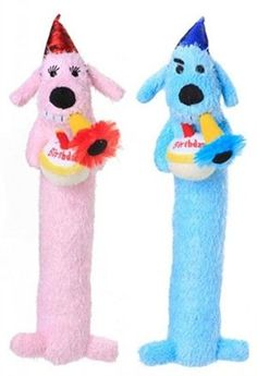 Happy Birthday Dog Loofa Toy Pink or Blue Pink >>> You can find out more details at the link of the image.