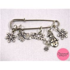 Let It Snow - Silver Knitting Stitch Marker Set