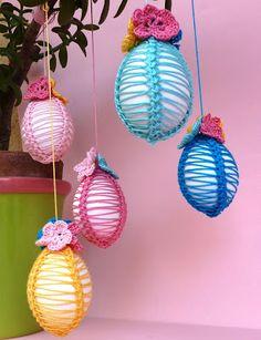Kreatívne Recyklácia - Craft a zábava: kreatívne Crochet: zdobenými vajcami