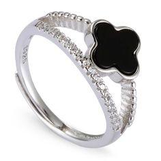 Rubrae Sterling Silver Rings Cubic Zirconia