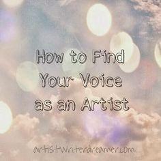 Artist.Writer.Dreamer: Artist Q&A: How to Find Your Voice as an Artist