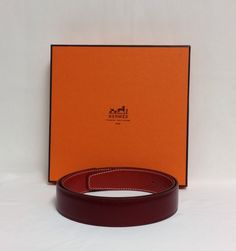 Red Hermes Leather Strap.