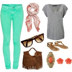 I love spring clothes...if only I could pull off colored jeans