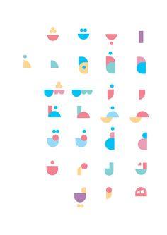 Geometric minimalist arabic alphabet
