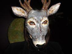 Paper mache papier mache animal mask deer mask by MiesmesaBerni, $49.00