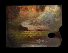 Palette of George Inness 1919 - Courtesy of the Salmagundi Club