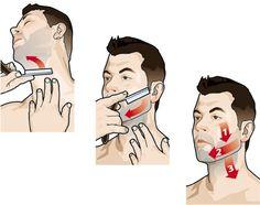 Correct way to shave. #beardmaintenance #shaving