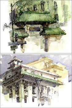 travel sketching . Marc Taro Holmes