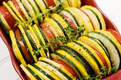 Veggie Tian Recipe ~ made with or without cheese, I would add cheese because it makes the world go around!