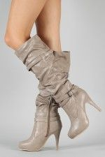 Anne Michelle Captivate-02 Slouchy Knee High Boot