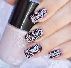 Color Alike 'Iced Coffee' with MoYou London Fashionista #16 plate ~ by Nail Art Sakura