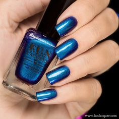 An electrifying blue nail polish with stunning blue and purple glitter is sure to leave your nails feeling the coolness. Fully opaque in 2-3 coats! Collection: Christmas 2015 Collection