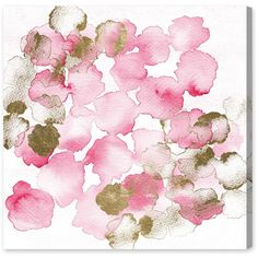 Oliver Gal Pretty In Pink Bouquet Canvas Wall Art ($160) ❤ liked on Polyvore featuring home, home decor, wall art, art, backgrounds, filler, pink canvas wall art, water color painting, watercolour painting and watercolor painting