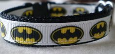 Batman Cat Collar (small) by dlkompare on Etsy