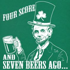 Image result for abe lincoln, beer