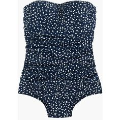 J.Crew Bandeau One-Piece Swimsuit (£91) ❤ liked on Polyvore featuring swimwear, one-piece swimsuits, spandex bandeau bathing suit, one piece bathing suits, one piece swimsuits, bandeau bathing suits and bandeau swimsuit