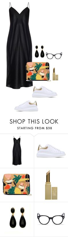 """""""Virgo"""" by antoinettec ❤ liked on Polyvore featuring Yves Saint Laurent, Alexander McQueen and Lizzie Fortunato Jewels"""