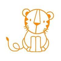 kleiner Tiger, orange, Velours-Motiv zum Aufbügeln - PeppAuf.de