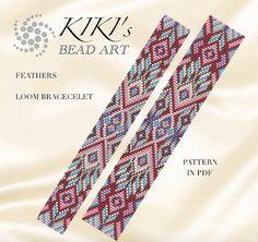 Bead loom pattern Feathers ethnic inspired LOOM door KikisBeadArts                                                                                                                                                                                 More