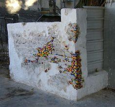 """German artist Jan Vormann travels around the world and restores crumbling architecture using LEGO blocks."""
