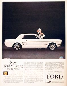 Buy the new 1964 Mustang for $2368. A good deal then, a great deal today!
