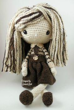 Luisa Amigurumi Doll Crochet Pattern PDF por CarmenRent en Etsy