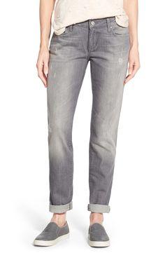 Mavi Jeans 'Emma' Distressed Stretch Slim Boyfriend Jeans (Grey) | Nordstrom