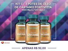 Não perca essa Super Oferta! Kit c/3 Potes de Óleo de Cártamo Fortvitta 1000 mg c/120 caps cada apenas R$ 92,00  Cuide da sua Saúde com Produtos de Qualidade... Temos muitas ofertas para você ficar em dia com sua Saúde. Confira! http://www.maissaudeebeleza.com.br/p/551/kit-c3-potes-de-oleo-de-cartamo-fortivita-1000-mg-c120-capsulas?utm_source=pinterest&utm_medium=link&utm_campaign=Óleo+Cártamo+Fortvitta&utm_term=Óleo+Cártamo&utm_content=post
