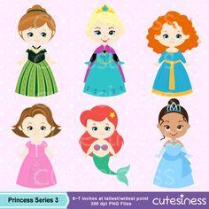 Princesa Digital Clipart Princess Clip Art Clipart por Cutesiness