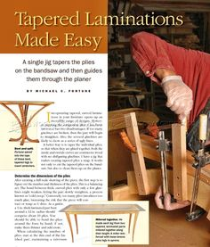 Making Curved Laminated legs - Bending Wood Furniture Legs Construction Wood Furniture Legs, Furniture Projects, Diy Furniture, Woodworking Jigs, Woodworking Projects, Bending Wood, How To Bend Wood, Workshop Ideas, Make It Simple