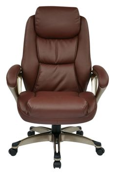 ECH Series Wine Cocoa Metal Bonded Leather Executive Chair